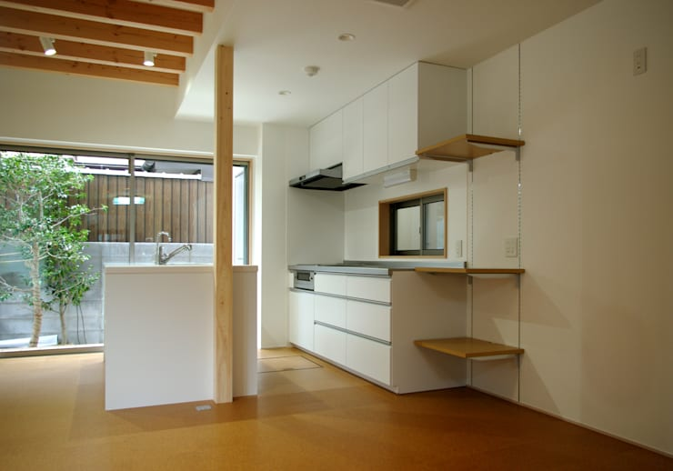 キッチン: 株式会社 岡﨑建築設計室が手掛けたキッチンです。