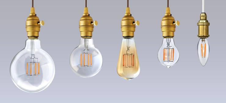 """フィラメントLED電球「Siphon」  Filament LED bulb """"Siphon"""": Only Oneが手掛けたリビングルームです。"""
