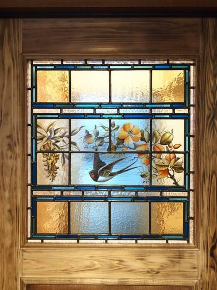 ビクトリア時代に描かれた美しいステンドグラス&ヴァセリンガラスのペンダントランプ: Crair Antiques クレアアンティークスが手掛けたクラシックです。,クラシック
