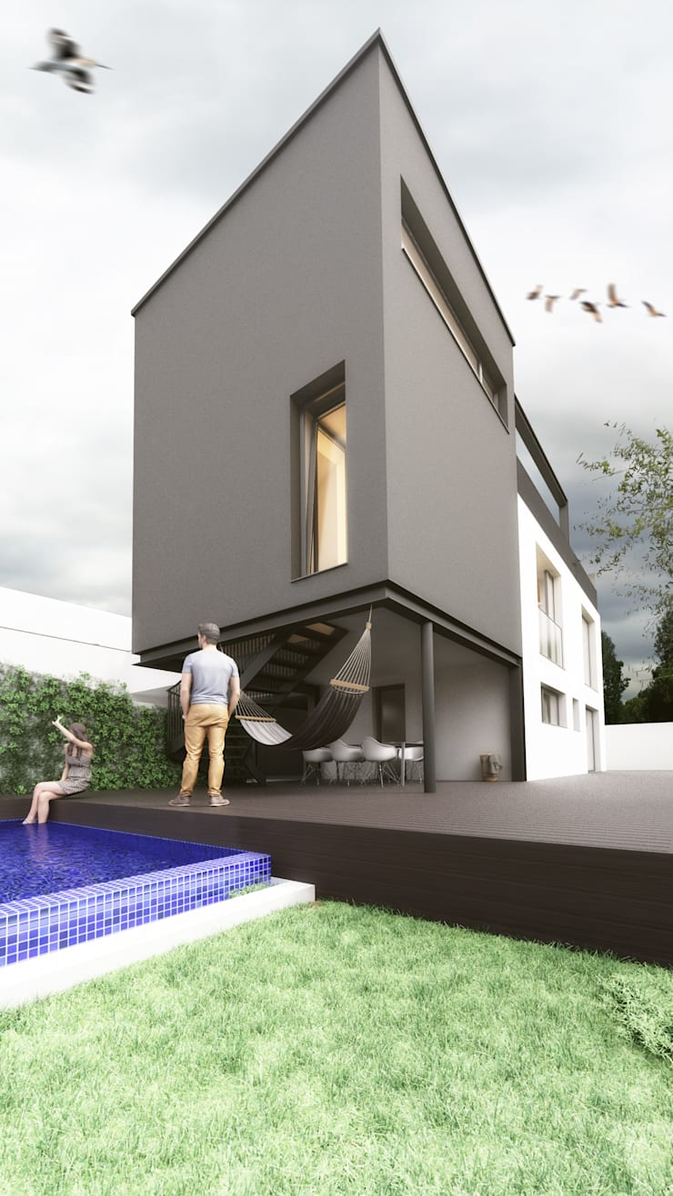 Casa PD: Casas  por Rúben Ferreira   Arquitecto