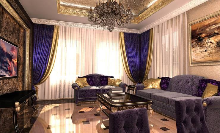 Современный классицизм: Гостиная в . Автор – Студия Маликова