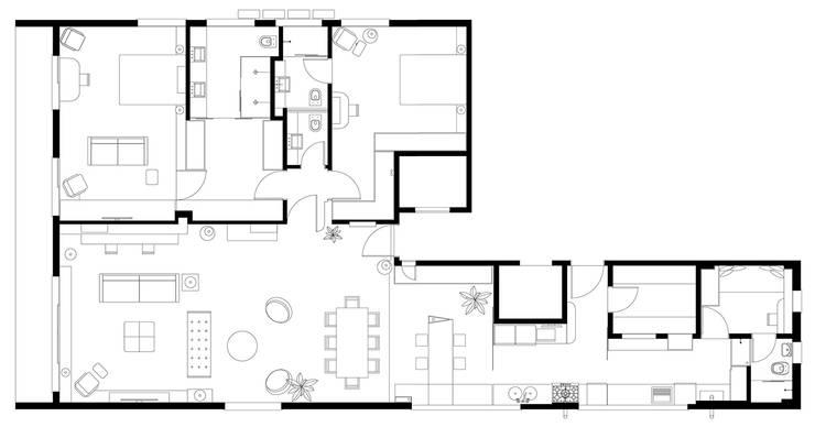 Interior | Apartamento - V:   por ARQdonini Arquitetos Associados