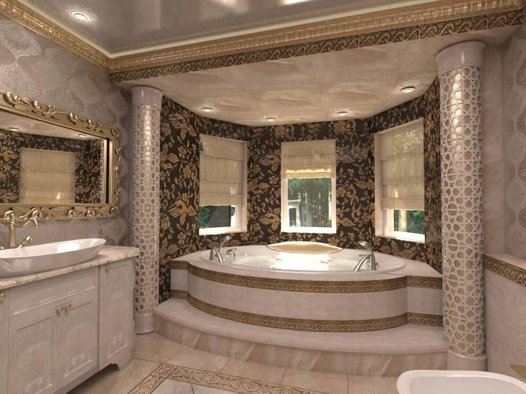 Современный классицизм: Ванные комнаты в . Автор – Студия Маликова