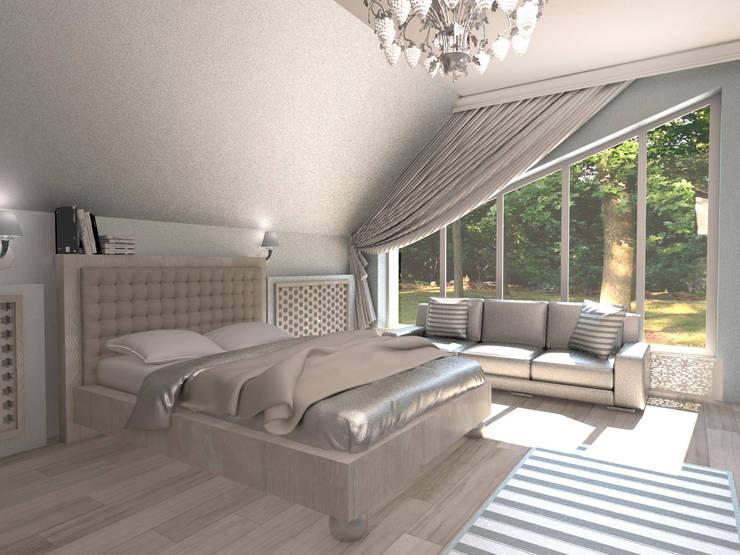 Современный классицизм: Спальни в . Автор – Студия Маликова