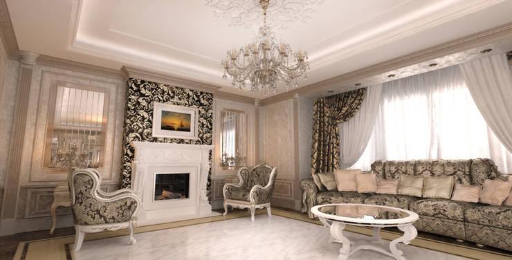 غرفة المعيشة تنفيذ Студия Маликова