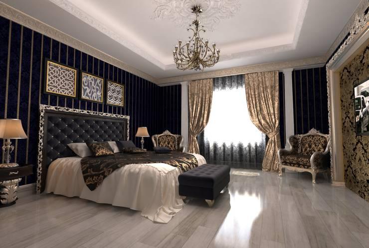 غرفة نوم تنفيذ Студия Маликова