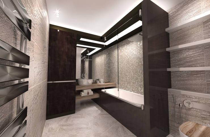 Многоэтажная эклектика: Ванные комнаты в . Автор – Студия Маликова