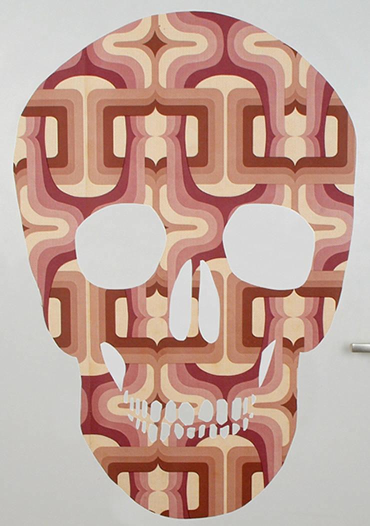Pink Skull:  Muren & vloeren door MOoink