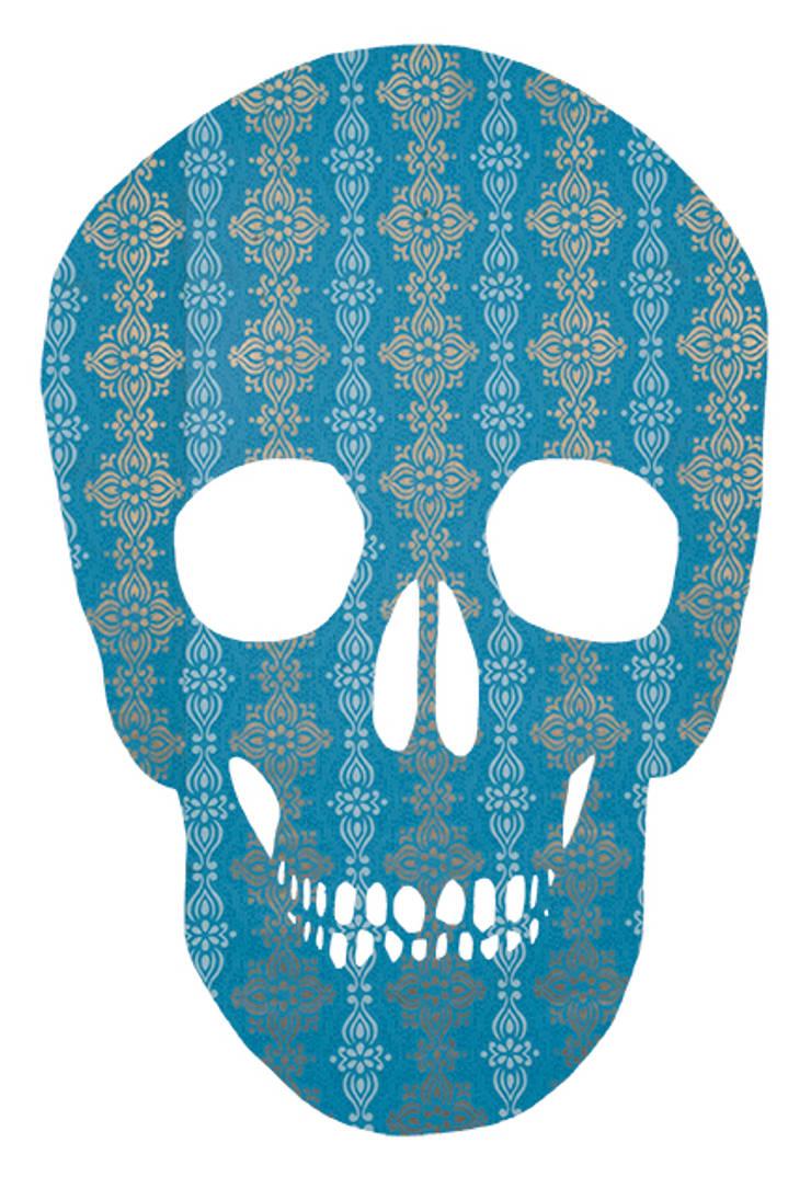 Blue & Gold SKull2:  Muren & vloeren door MOoink