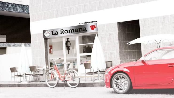LA ROMANA | Gelateria – Creperia: Escritórios e Espaços de trabalho  por Rúben Ferreira | Arquitecto