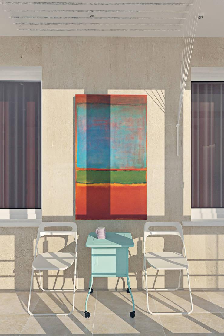 Красочный минимализм: Tерраса в . Автор – BIARTI - создаем минималистский дизайн интерьеров