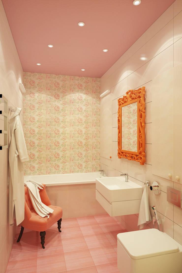 Красочный минимализм: Ванные комнаты в . Автор – BIARTI - создаем минималистский дизайн интерьеров