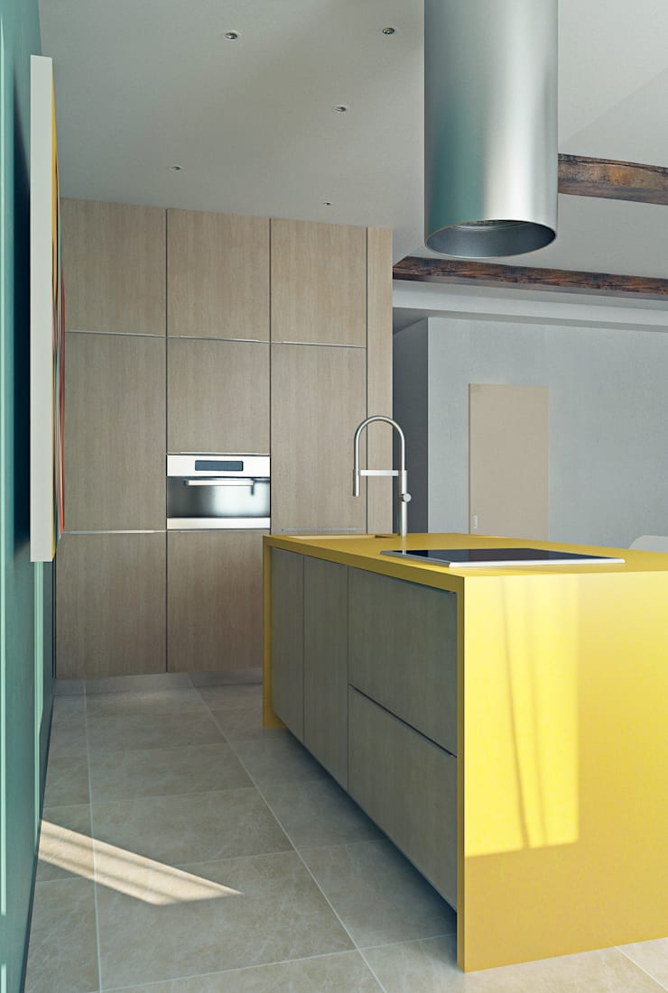 Красочный минимализм: Кухни в . Автор – BIARTI - создаем минималистский дизайн интерьеров
