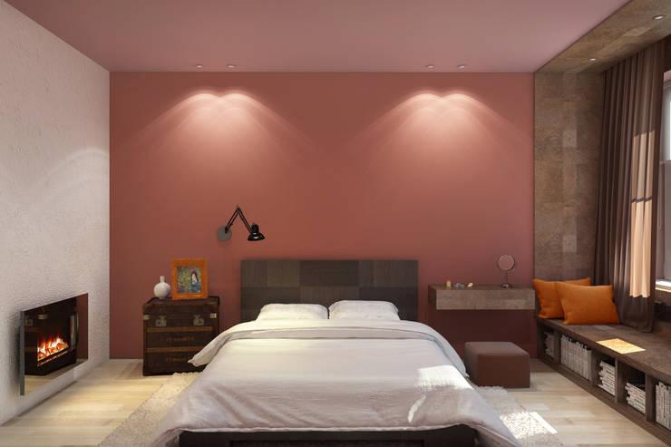 Красочный минимализм: Спальни в . Автор – BIARTI - создаем минималистский дизайн интерьеров