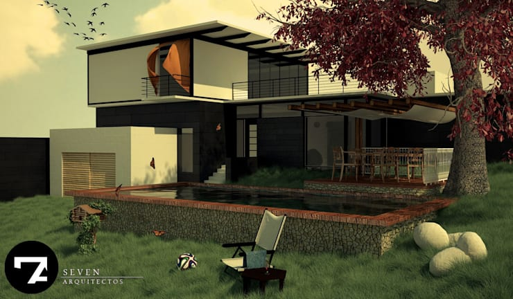 Proyectos Interiorismo: Jardines de estilo  por Seven Arquitectos