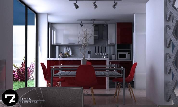 Proyectos Interiorismo: Cocinas de estilo  por Seven Arquitectos