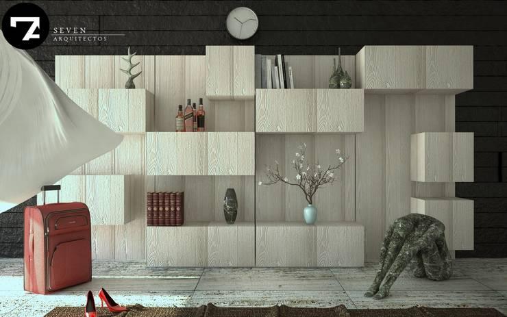 Proyectos Interiorismo: Salas de estilo  por Seven Arquitectos