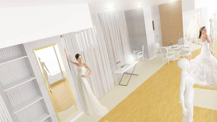 Loja de Noivas   Modelação e Renderização 3D: Escritório e loja  por Rúben Ferreira   Arquitecto