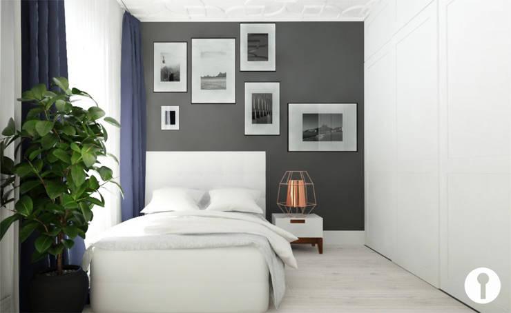Nowoczesność w każdym calu: styl , w kategorii Sypialnia zaprojektowany przez Urządzamy pod klucz