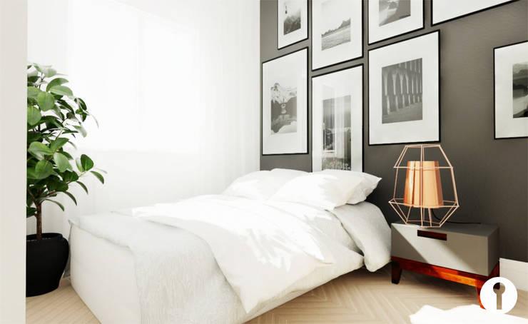 Nowoczesność w każdym calu: styl , w kategorii Sypialnia zaprojektowany przez Urządzamy pod klucz,Nowoczesny