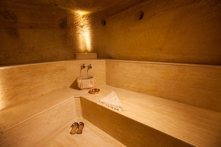 Kayakapi Premium Caves - Cappadocia – Muhittin Toker evi Öncesi ve Sonrası:  tarz Banyo