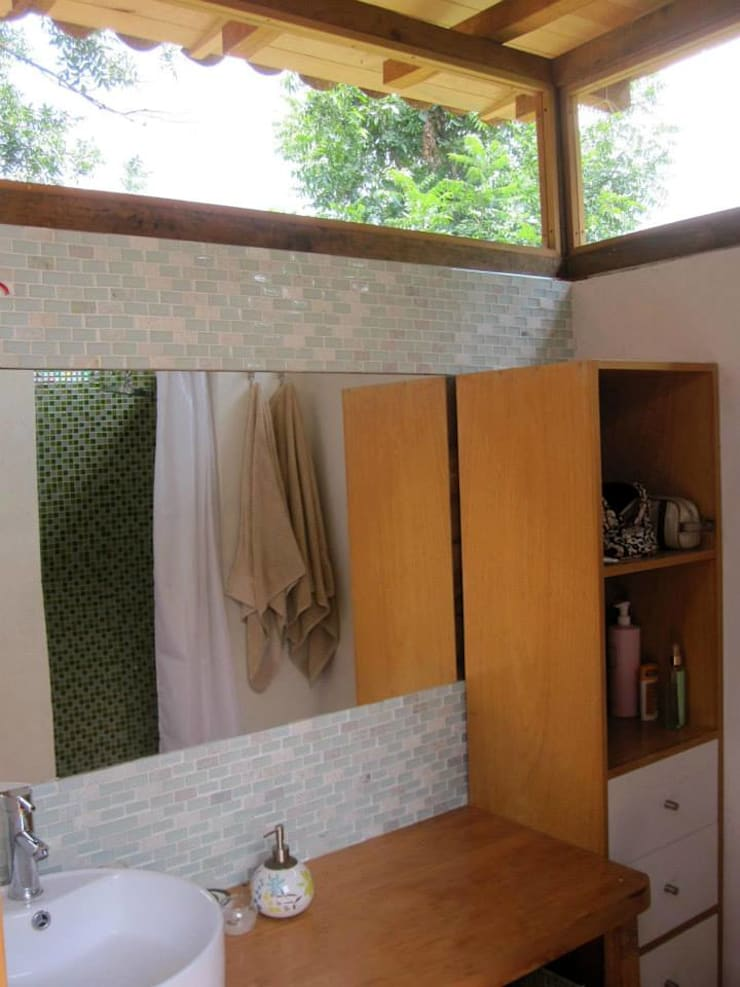 MORO TALLER DE ARQUITECTURA:  tarz Banyo, Rustik