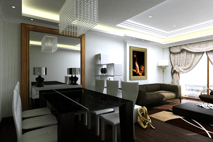 Abb Design Studio – S&A Ailesi - Oturma Odası:  tarz İç Dekorasyon