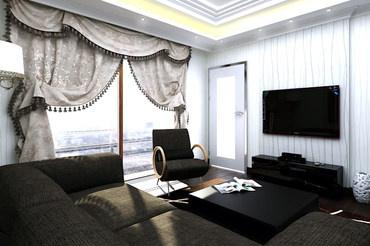 Abb Design Studio – S&A Ailesi – Oturma Odası:  tarz İç Dekorasyon