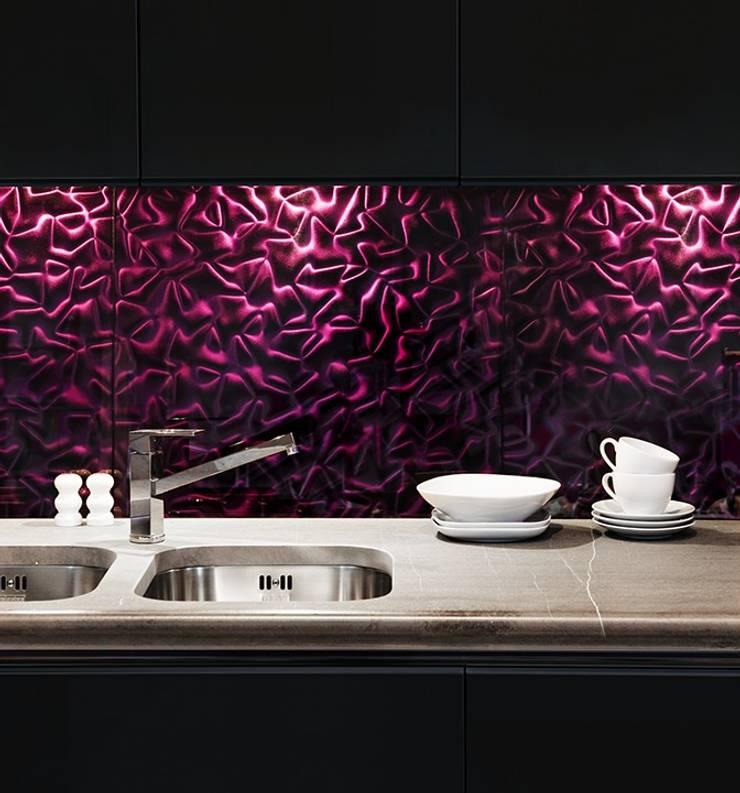 Violet Silk 3D Mazu: styl , w kategorii Kuchnia zaprojektowany przez Deeco