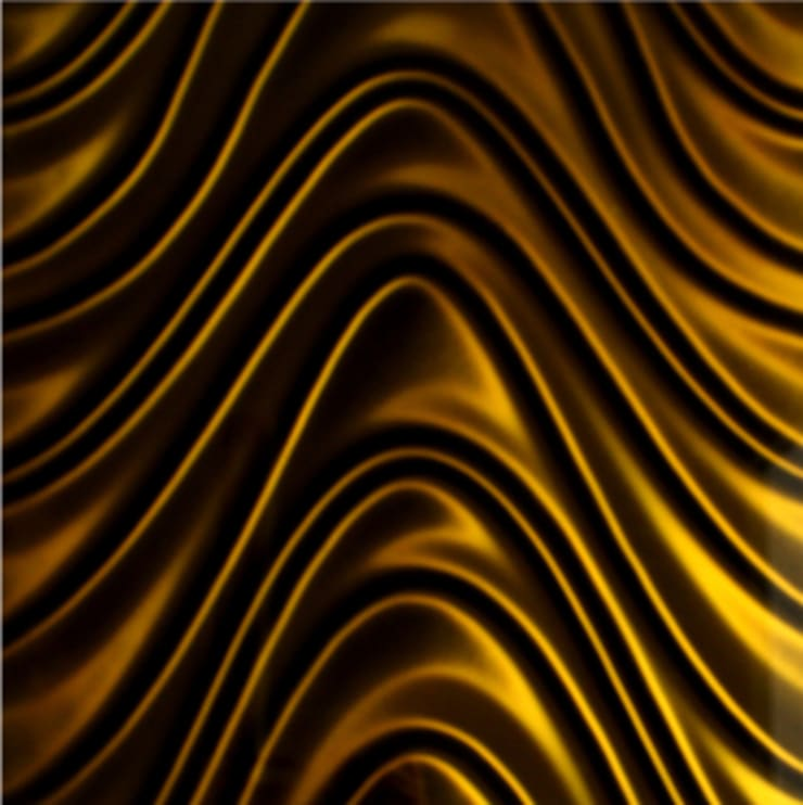 Golden Wave 3D Mazu: styl , w kategorii Salon zaprojektowany przez Deeco