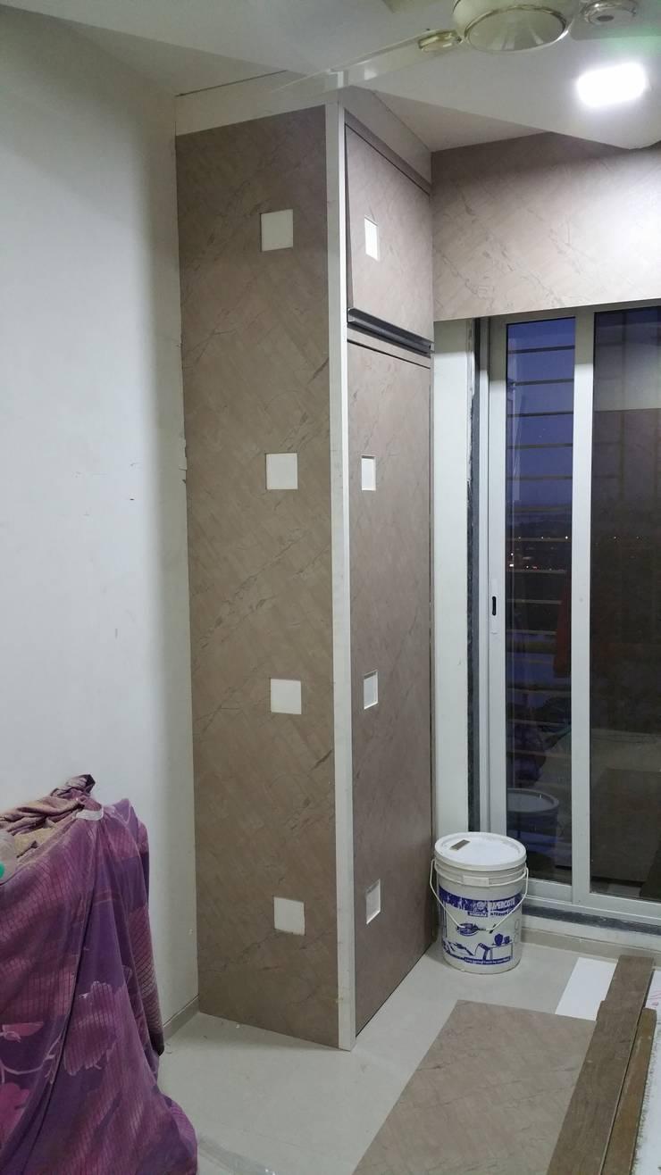 Minimalistyczne domowe biuro i gabinet od Alaya D'decor Minimalistyczny Sklejka