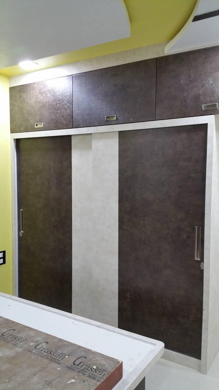 Minimalistyczna sypialnia od Alaya D'decor Minimalistyczny Sklejka