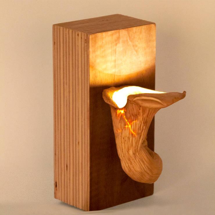 Eryngii Lampje: modern  door MOoink, Modern Houtcomposiet