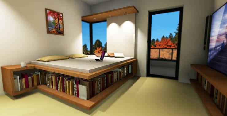 Schlafzimmer: minimalistische Schlafzimmer von LeontiucArchitekten