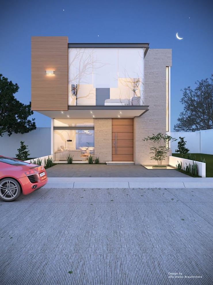 Alfa Studio Arquitectura: Casas de estilo  por alfa studio arquitectura
