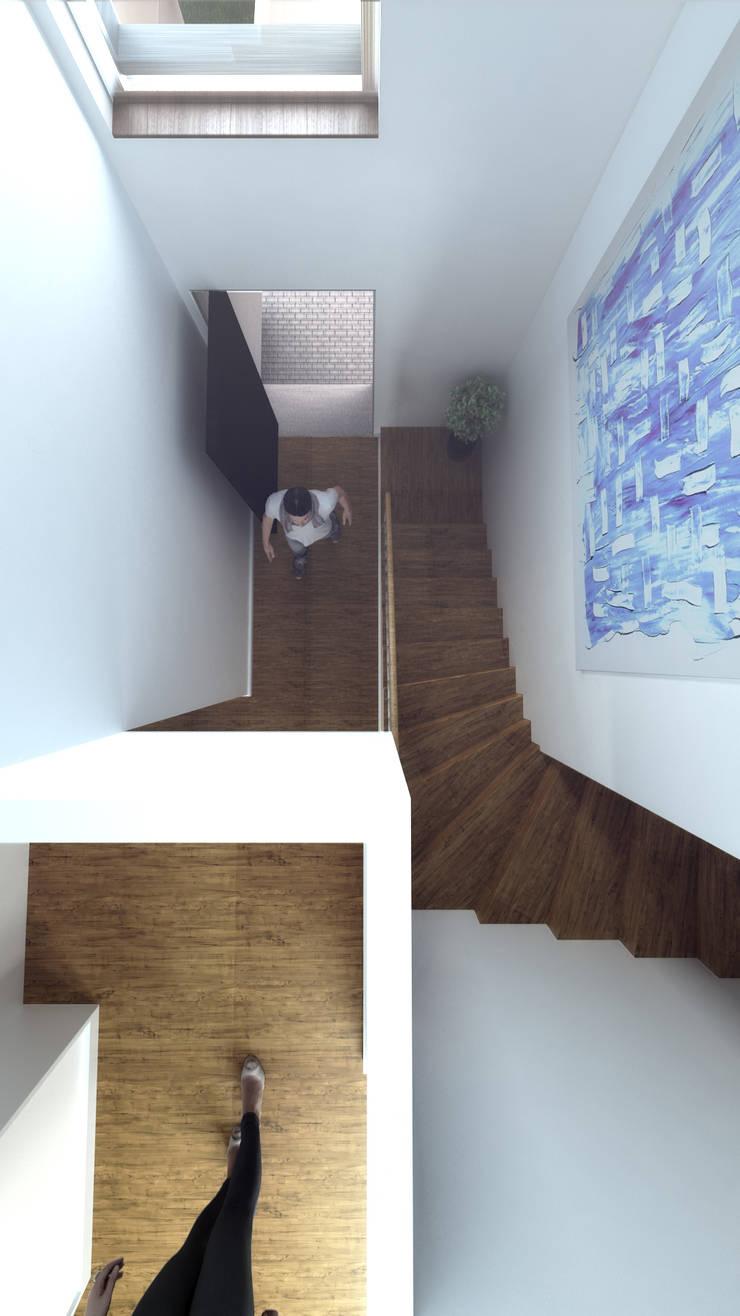 Casa LT: Corredores e halls de entrada  por Rúben Ferreira | Arquitecto
