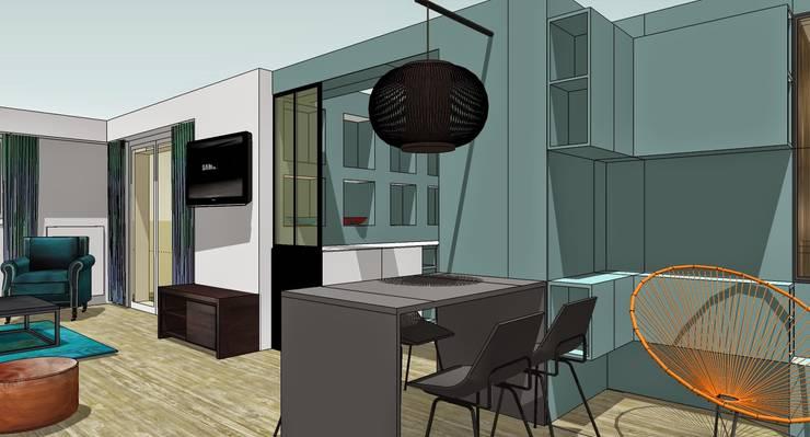 RENO Appartement L: Bureau de style  par EI. SOPHIE BANNWART