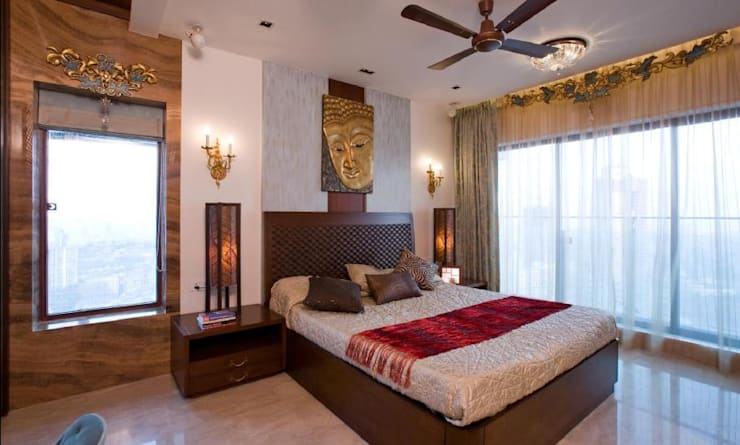 Apartment: modern Bedroom by archana_kejriwal