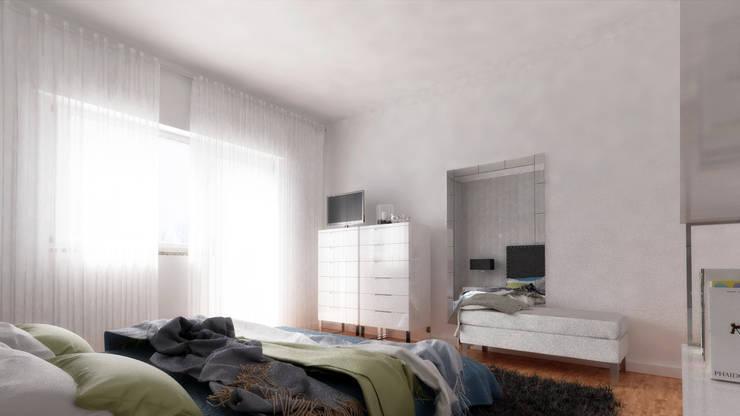 Casa L   Modelação e Renderização 3D: Quarto  por Rúben Ferreira   Arquitecto