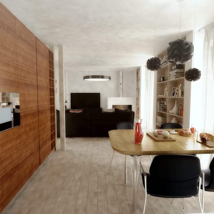 Casa D: Salas de jantar modernas por Rúben Ferreira | Arquitecto