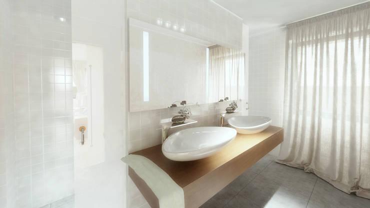 Casa D: Casas de banho modernas por Rúben Ferreira | Arquitecto