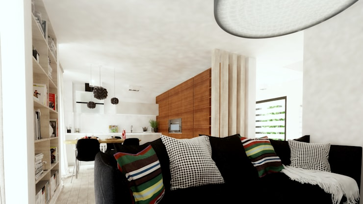 Casa D: Salas de estar  por Rúben Ferreira | Arquitecto