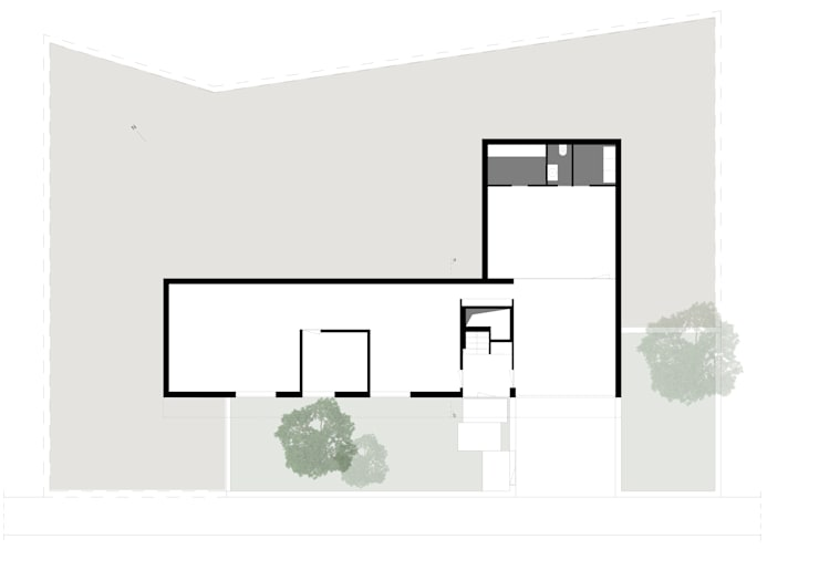 Planta do piso térreo:   por a-tuar arquitetura