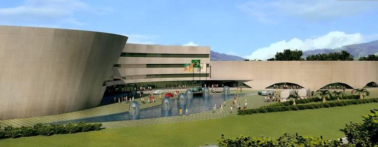 Centro Cultural Walter Peracchi de  Barcellos: Centros de congressos  por Marisol Réquia Arquitetura,Moderno
