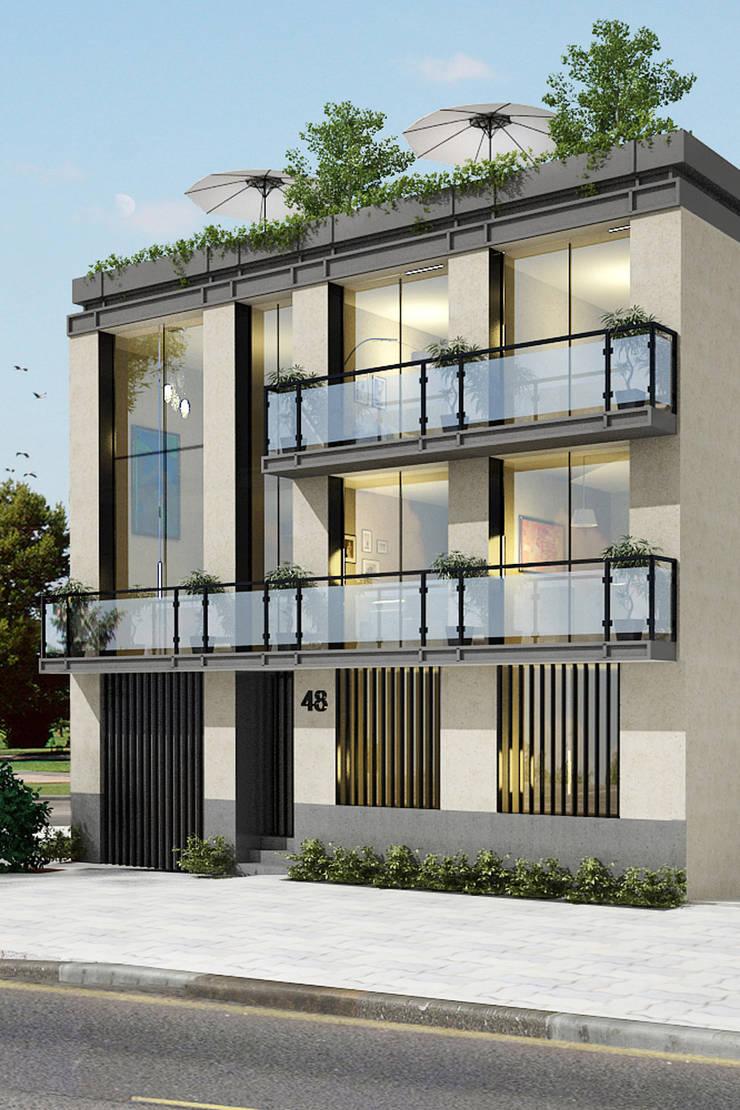 Tehuantepec 48- Boué Arquitectos : Casas de estilo  por Boué Arquitectos