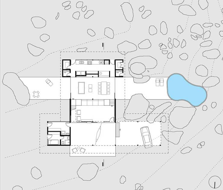 Residência Itupeva: Casas tropicais por Zehbra Arquitetos