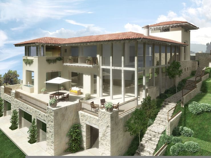 Casa Tres Marias- Boué Arquitectos : Casas de estilo  por Boué Arquitectos