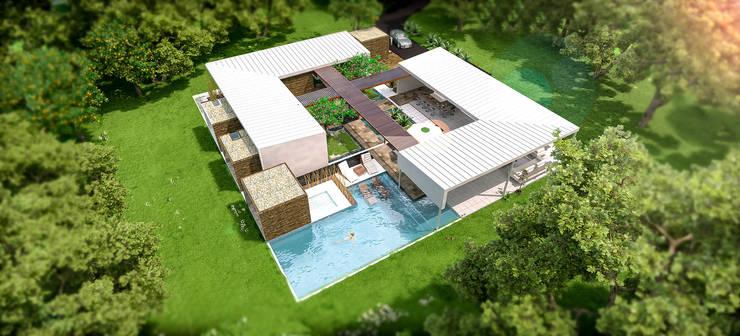 CASA BUSTAMANTE: Casas de estilo moderno por Lápiz De Sueños