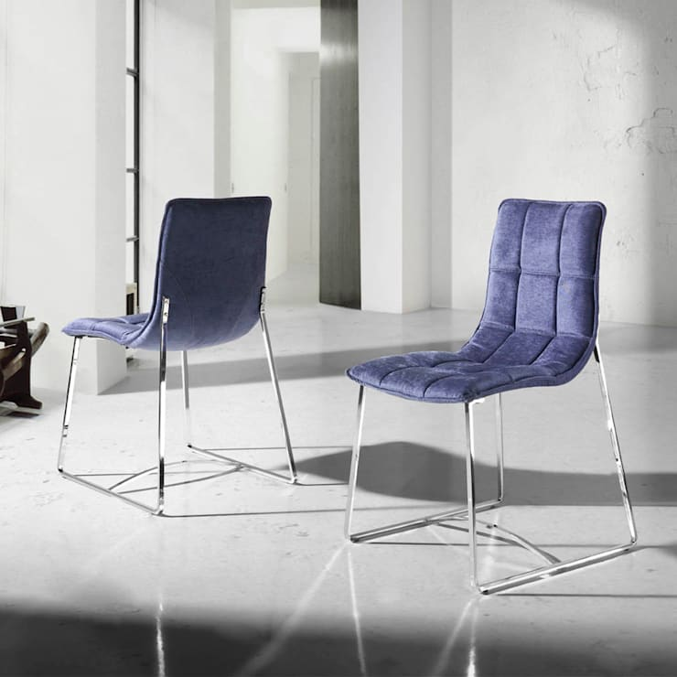 Cadeiras Chairs www.intense-mobiliario.com Aramis http://intense-mobiliario.com/product.php?id_product=370: Sala de jantar  por Intense mobiliário e interiores;