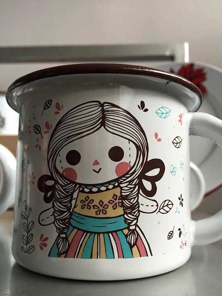 Muñecas de Trapo – María Juana Art: Comedor de estilo  por Maria Juana Art